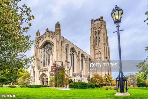 シカゴ大学・ ロックフェラー記念チャペル - シカゴ大学 ストックフォトと画像