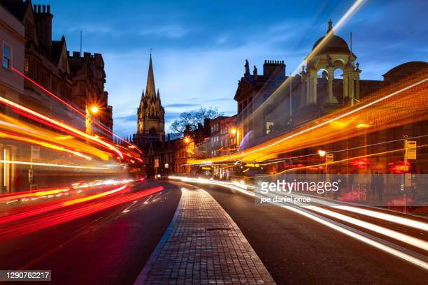 university church of st mary the virgin, high street, oxford, england - high street stock pictures, royalty-free photos & images
