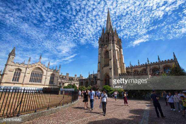 universität der hl. maria der jungfrau, universität oxford, england, vereinigtes königreich - oxford oxfordshire stock-fotos und bilder