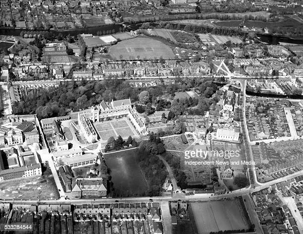 University College Cork The three sided building is at the centre of the picture with the Dairy Science Institute and gardens to the right Cork jail...