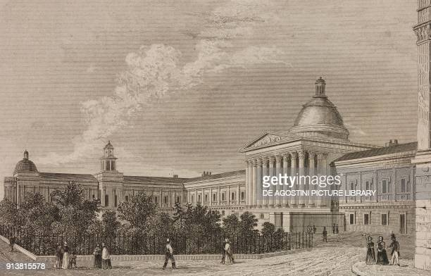 University College London England United Kingdom engraving by Lemaitre from Angleterre Ecosse et Irlande Volume IV by Leon Galibert and Clement Pelle...