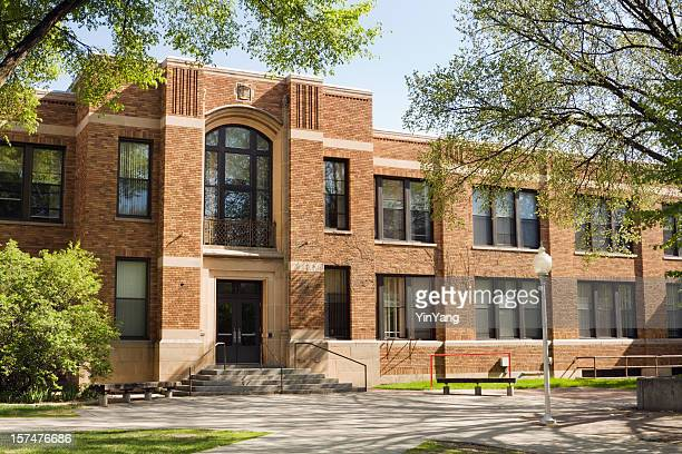 university lecture hall, college dorm, school or campus education building - school building stock pictures, royalty-free photos & images