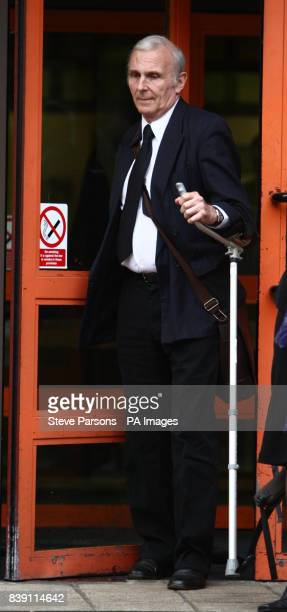 University lecturer Brian Dodgeonof Barlby Road north Kensington leaves West London Magistrates' court in Hammersmith where he was charged with five...