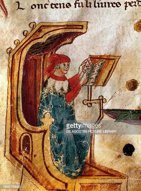 University lecturer miniature Italy 15th century Venice Biblioteca Nazionale Marciana