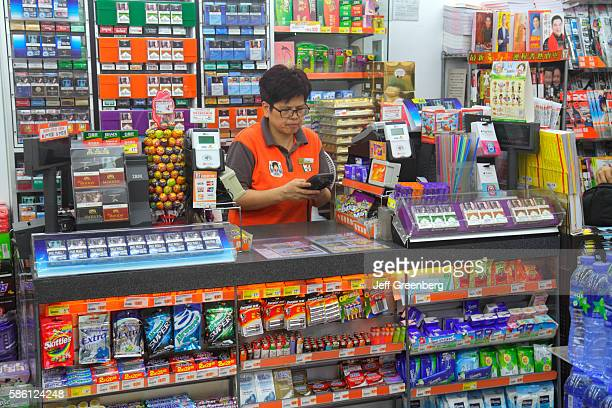 University MTR Subway Station 7Eleven convenience store counter
