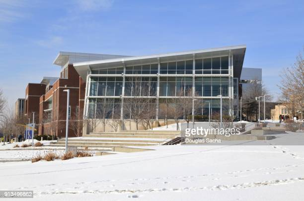 university of akron campus, student union building, akron, ohio, usa - quaker oats stock pictures, royalty-free photos & images