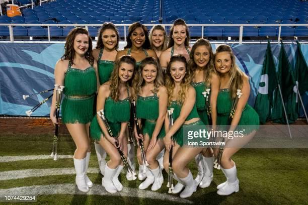 University of Alabama at Birmingham Blazers cheerleaders during the Cheribundi Boca Raton Bowl as their team competes against the Northern Illinois...