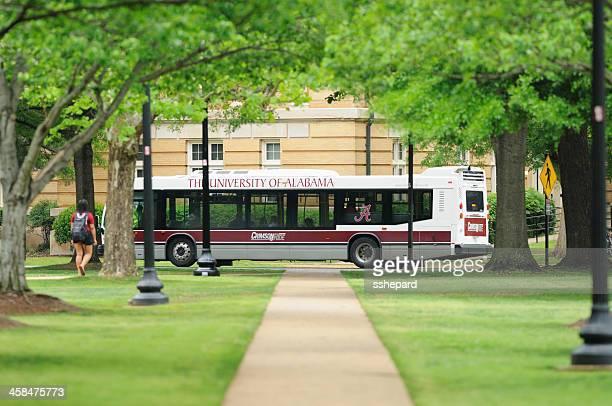 university of alabama crimson ride bus - tuscaloosa stock pictures, royalty-free photos & images