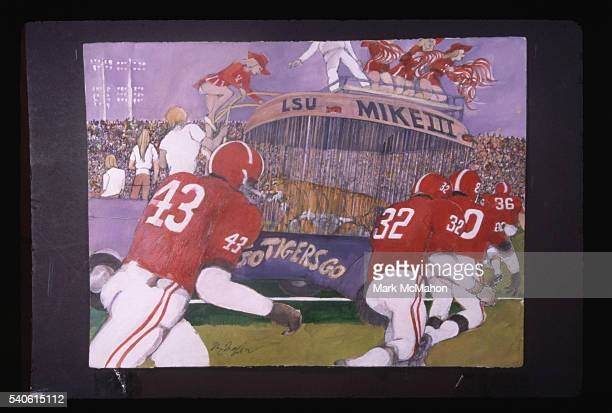 University of Alabama Players Take the Field by Franklin McMahon
