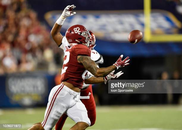 University of Alabama tight end Irv Smith Jr makes a catch during the second half of the Camping World Kickoff game between Alabama and Louisville on...