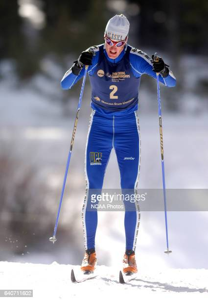 University of Alaska Fairbanks' Marius Korthauer won the Men's 20k classic as part of the Men's and Women's Skiing Championships held at Bohart Ranch...