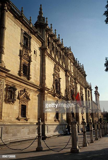 University of Alcala de Henares Madrid The façade is the building's most outstanding feature Constructed in a Plateresque style by Rodrigo Gil de...