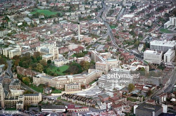 University of Bristol 1970 Aerial view centred on Royal Fort House and Gardens with the Queen's Building in the foreground