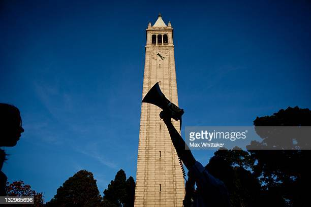 University of California Berkeley students march through campus as part of an open university strike in solidarity with the Occupy Wall Street...
