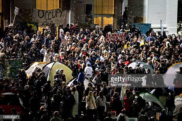 University of California Berkeley students occupy campus as part of an 'open university' strike in solidarity with the Occupy Wall Street movement on...