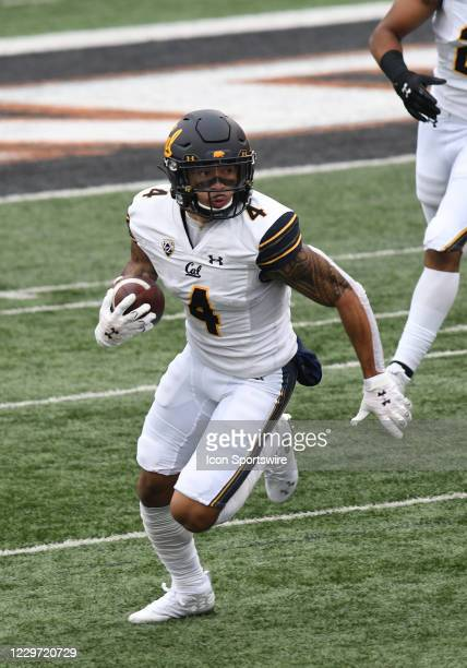 University of California Golden Bears WR Nikko Remigio runs the ball during a PAC-12 conference football game between the Cal Bears and Oregon State...