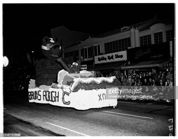 University of California Los Angeles Homecoming Parade 02 November 1951 Carol Lee LaddPriscella MartinQueen Evalyne MillerSally ForbesPeggy...