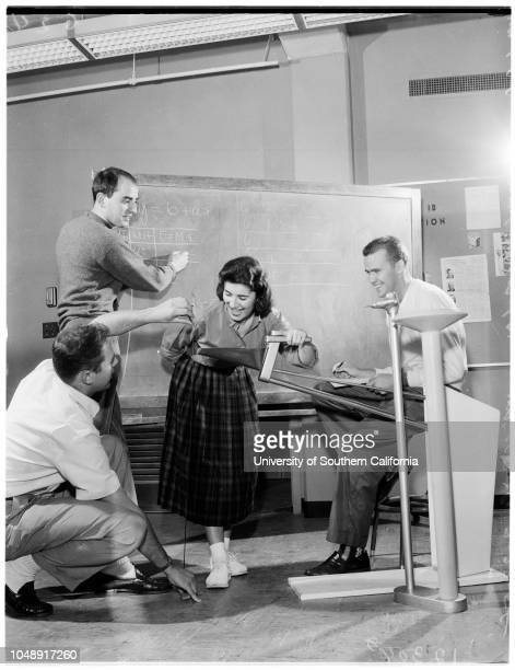 University of California Los Angeles industrial design program 27 February 1958 Charlyn JohnstonBill StaigerJR McCabeBob DelsassoCT ThomasPat...