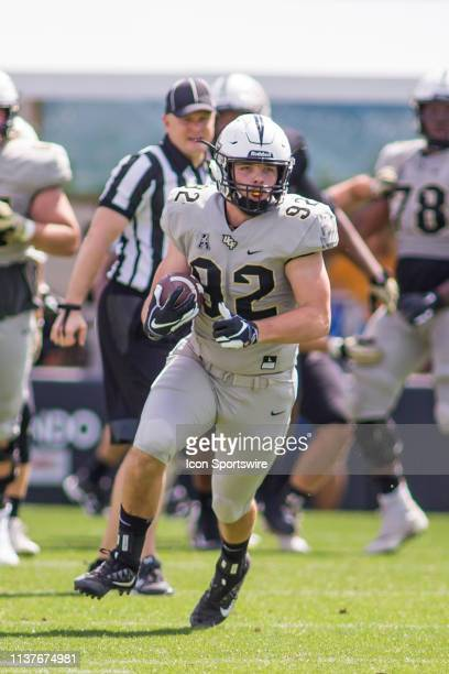 University of Central Florida tight end Alec Holler catches a pass in the UCF Football Spring Game on April 13 at Spectrum Stadium in Orlando Florida