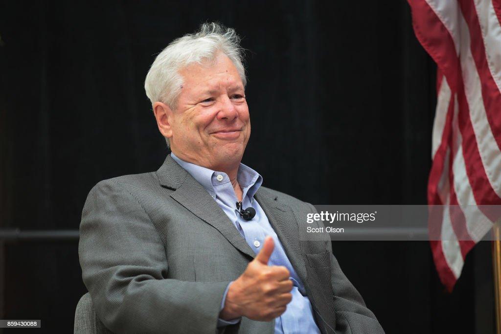 University Of Chicago Professor Richard Thaler Wins Nobel Prize In Economics : News Photo