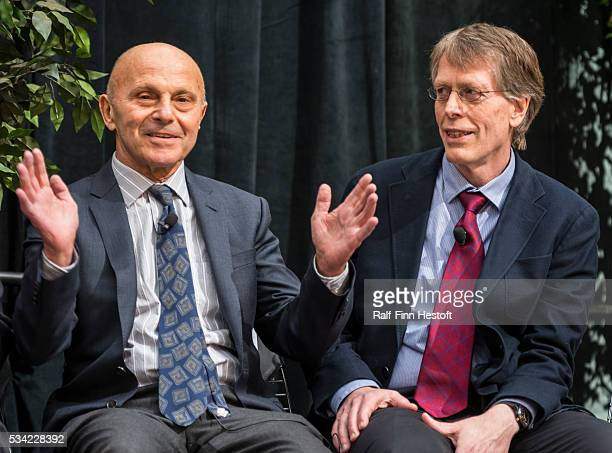 University of Chicago professors Eugene F. Fama and Lars Peter Hansen celerate their receipt of the 2013 Nobel Prize in Economics. The pair spoke at...