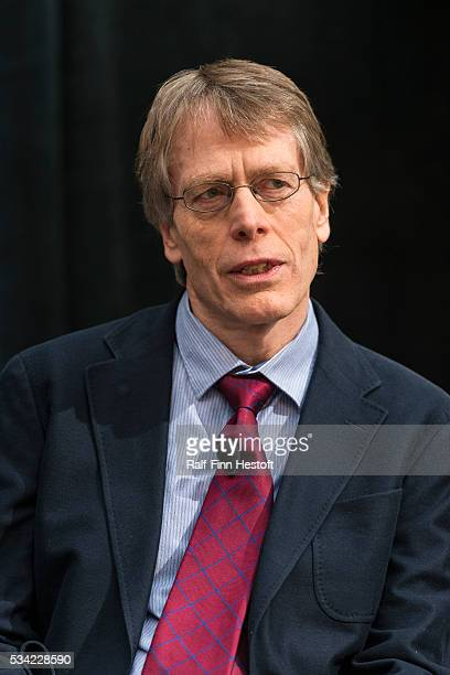 University of Chicago professors Lars Peter Hansen, one of three recipiants of the 2013 Nobel Prize in Economics waits for his turn to speak at a...