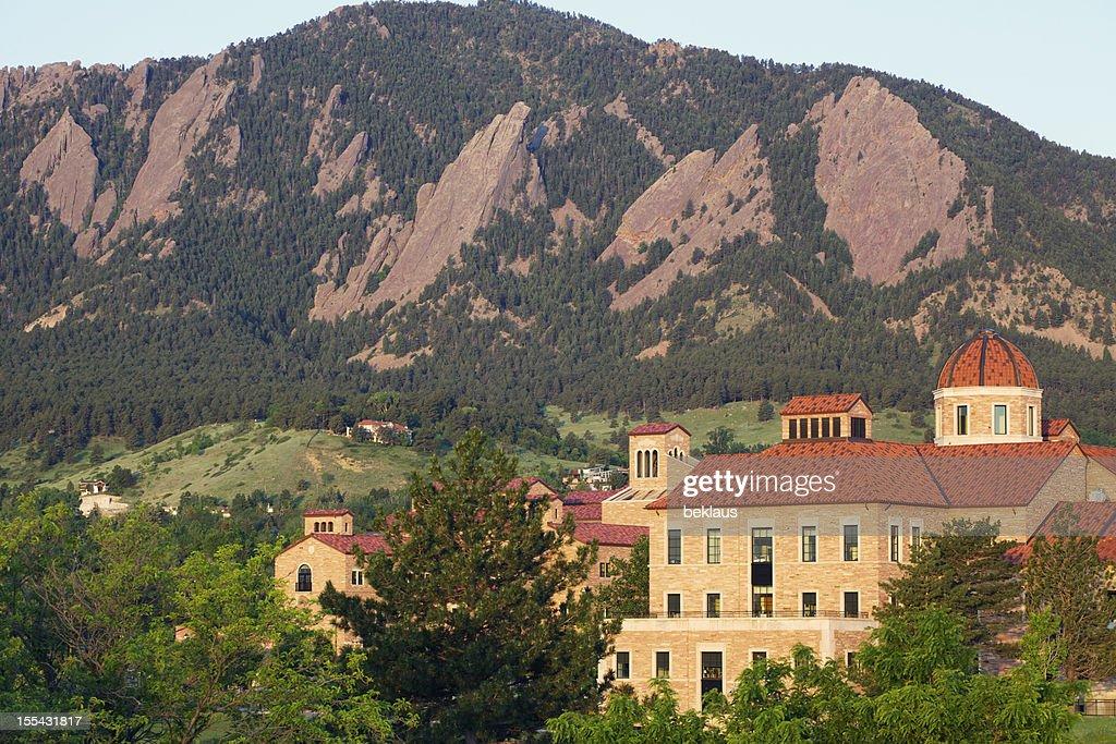 University of Colorado and Flatirons : Stock Photo