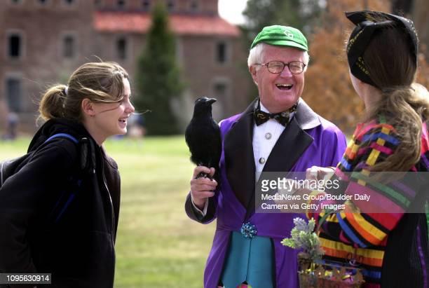 University of Colorado Regent Pete Steinhauer plays the new fool as he jokes with CU History Professor Patricia Limerick and CU film major Shayna...
