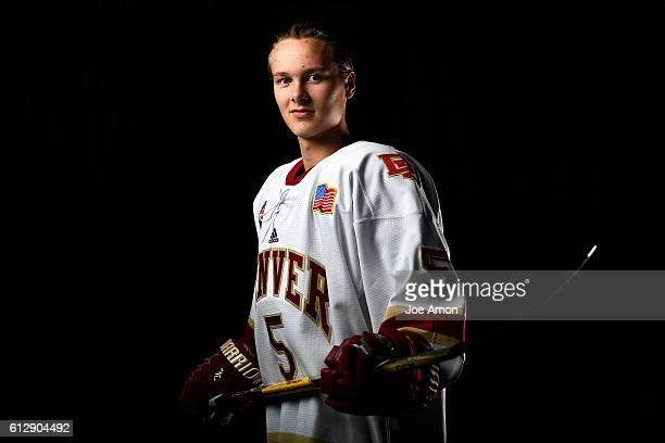 University of Denver Forward Henrik Borgström at Magness Arena October 05 2016 Denver CO