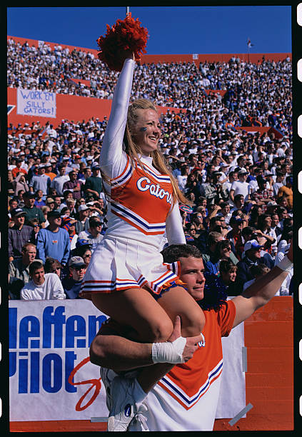 University of Florida Cheerleaders at Football Game
