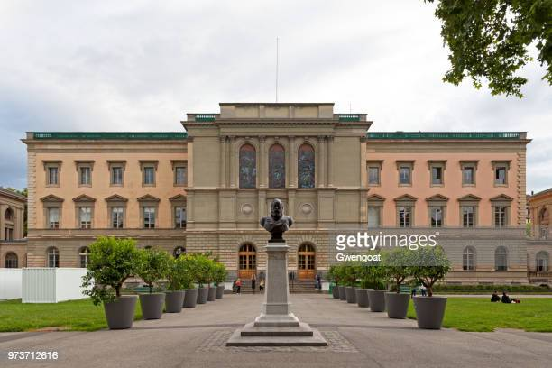 university of geneva in parc des bastions - gwengoat stock pictures, royalty-free photos & images