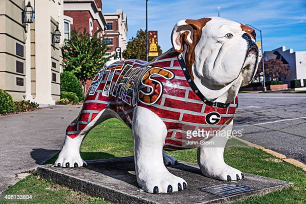 University of Georgia Bulldog sculpture.