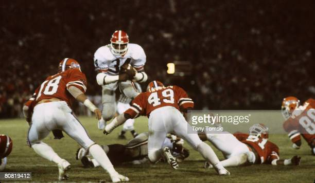 University of Georgia Bulldogs running back Herschel Walker goes airborne circa the early1980s