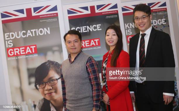 University of Greenwich Manchester Business School Kelvin Chan University of Nottingham Cynthia Chan and University of Oxford Jeremy Lai pose for a...