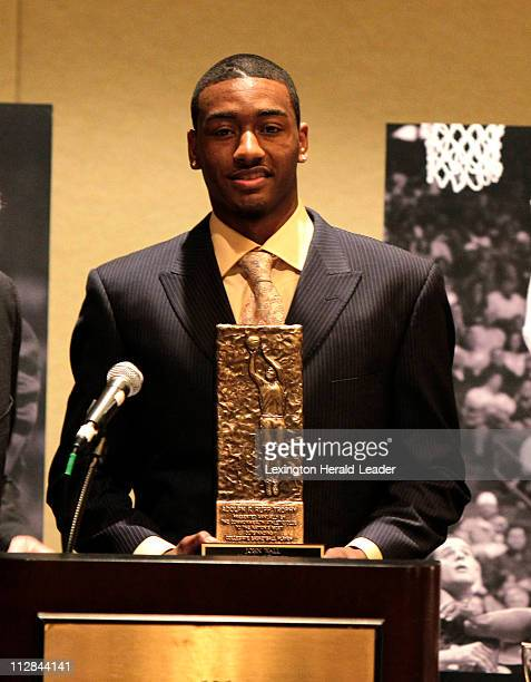 University of Kentucky guard John Wall is announced as the winner of the Adolph Rupp trophy for college basketball's National Player of the Year Wall...