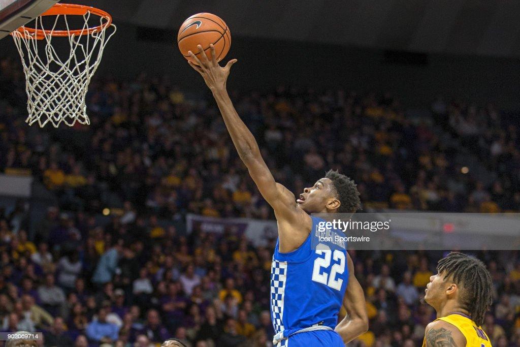 COLLEGE BASKETBALL: JAN 03 Kentucky at LSU : News Photo