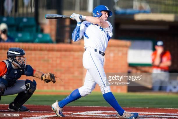 University of Kentucky outfielder Zach Reks drops a bomb of a home run during a regular season college baseball game between the UT Martin Skyhawks...