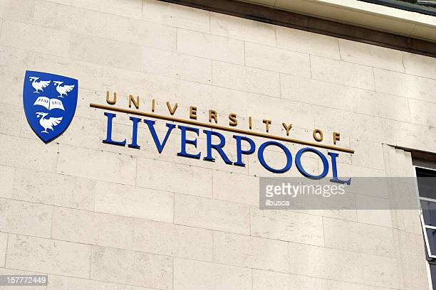 University of Liverpool logo on building.