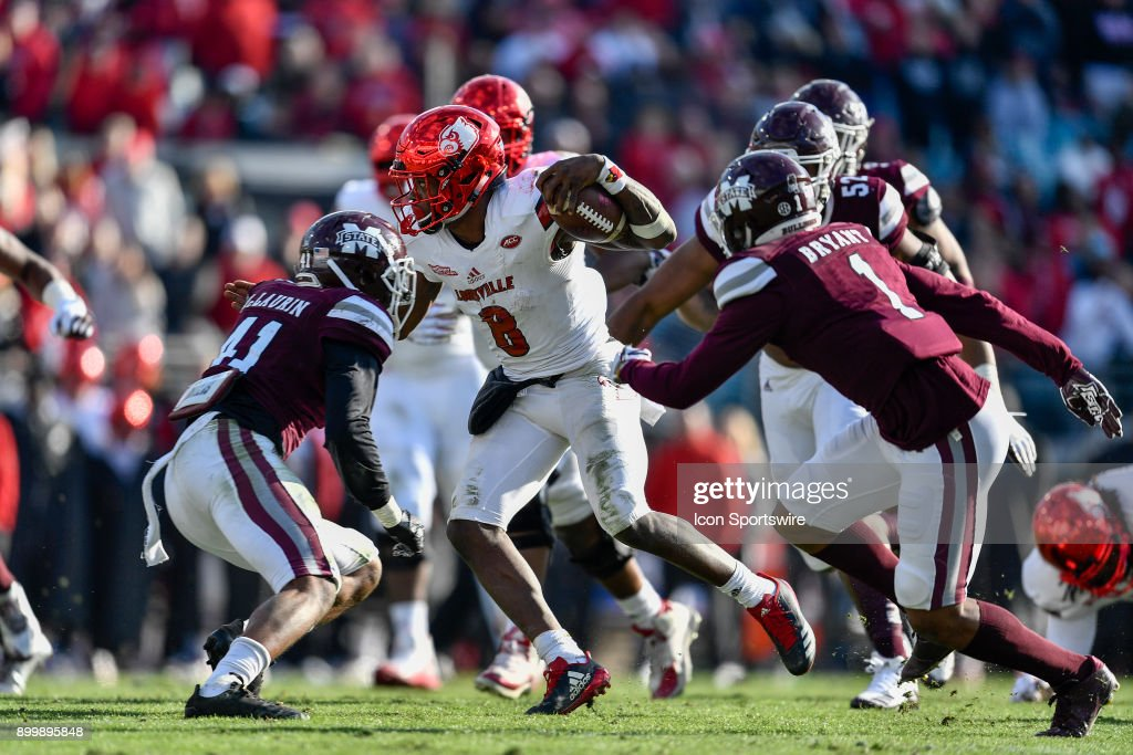 COLLEGE FOOTBALL: DEC 30 Taxslayer Bowl - Louisville v Mississippi St : News Photo
