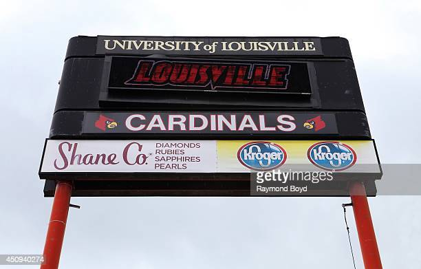 University of Louisville information sign outside Papa JohnÕs Cardinal Stadium home of the Louisville Cardinals football team on May 30 2014 in...