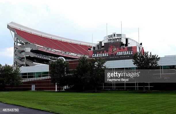 University of Louisville Papa John's Cardinal Stadium, home of the Louisville Cardinals football team on July 19, 2015 in Louisville, Kentucky.