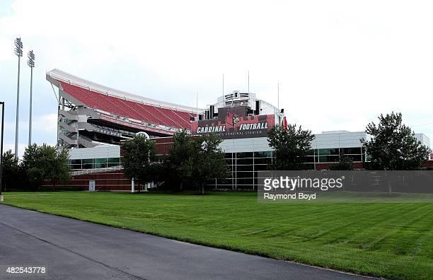 University of Louisville Papa John's Cardinal Stadium home of the Louisville Cardinals football team on July 19 2015 in Louisville Kentucky