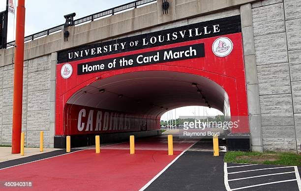 University of Louisville pedestrian tunnel outside Papa JohnÕs Cardinal Stadium home of the Louisville Cardinals football team on May 30 2014 in...