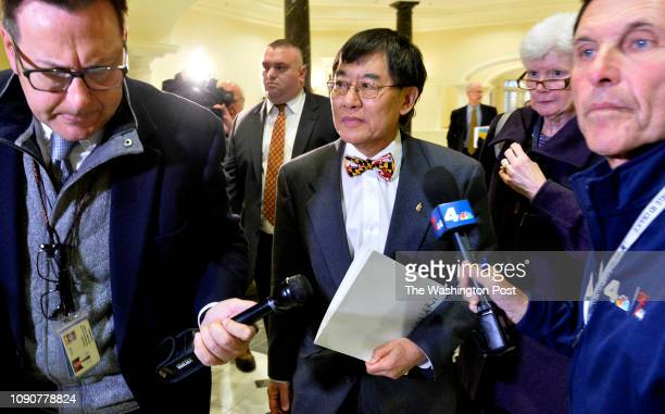 University of Maryland President Wallace D Loh leaving the House Apporiations Committee hearing room on November 15 2018 in Annapolis Md
