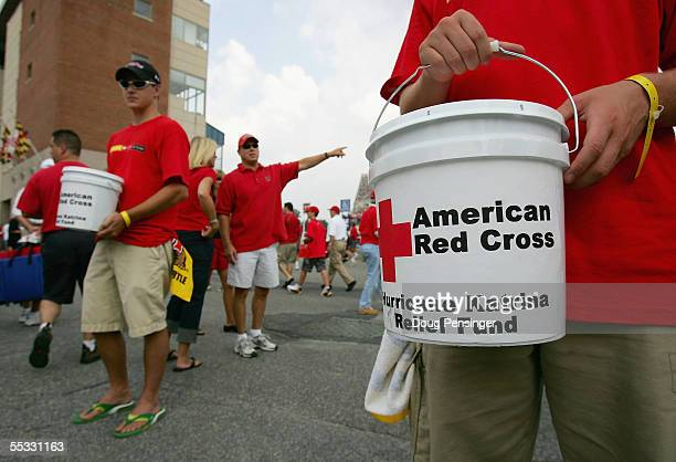 University of Maryland student athletes volunteered to collect donations from fans for the American Red Cross Hurricane Katrina Relief Fund as the...