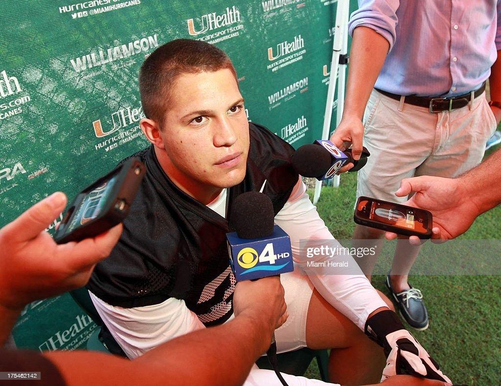 f939b8728 University of Miami football practice. University of Miami defensive  lineman Anthony Chickillo ...