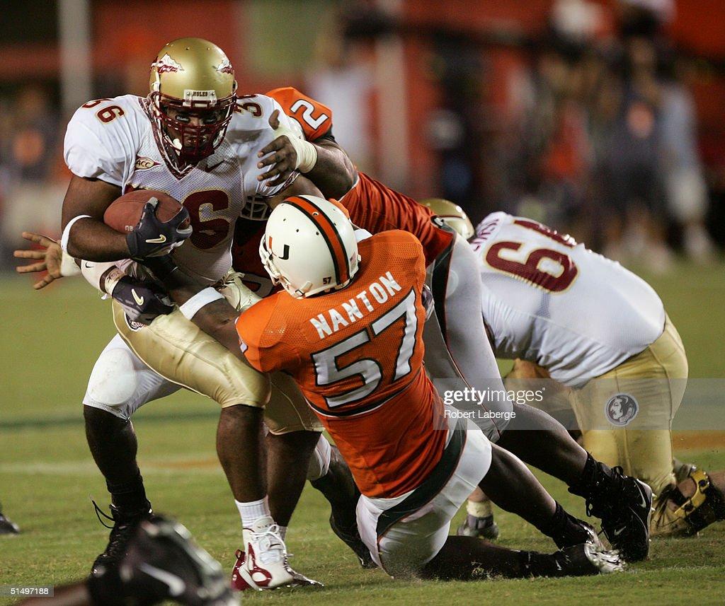 University of Miami vs Florida State : News Photo