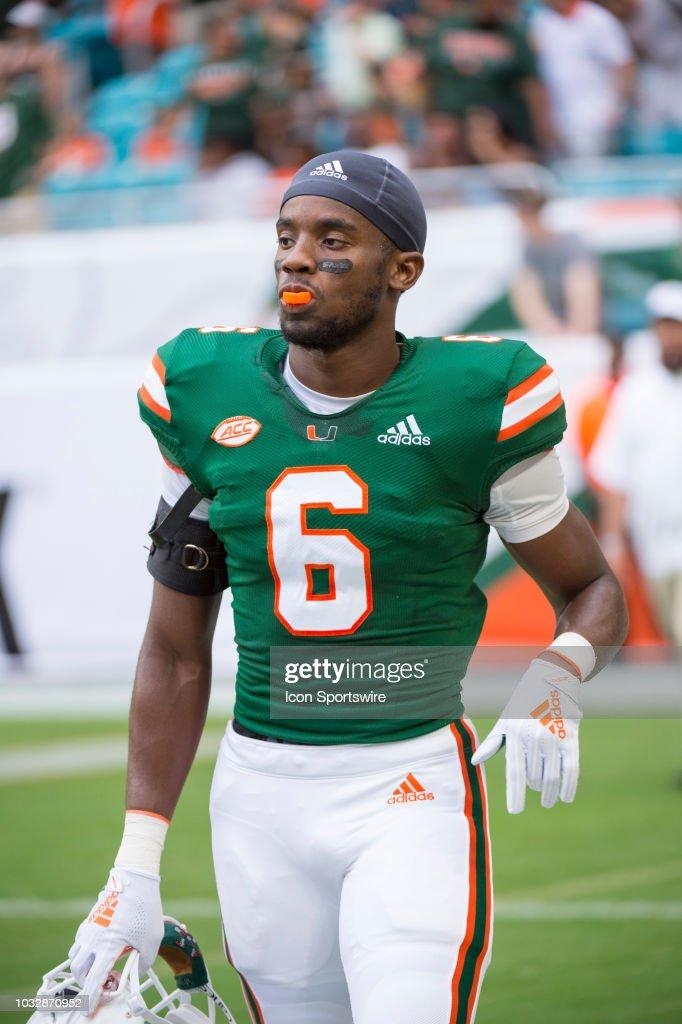 new styles 27b82 2132e University of Miami Hurricanes Defensive Back Jhavonte Dean ...