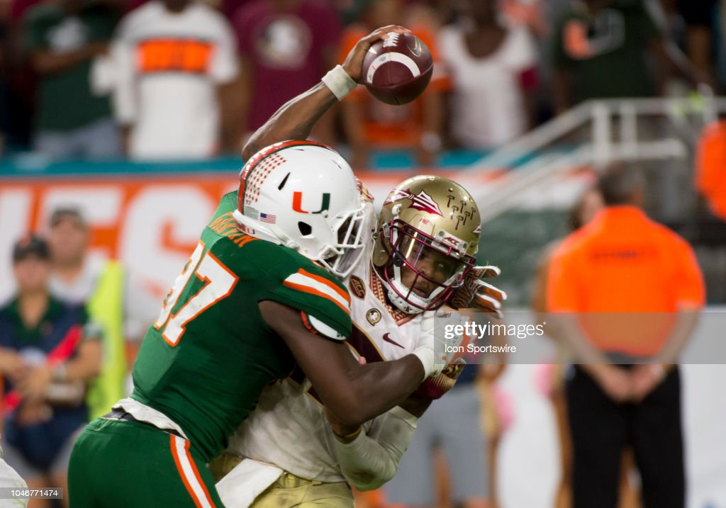 COLLEGE FOOTBALL: OCT 06 Florida State at Miami : News Photo