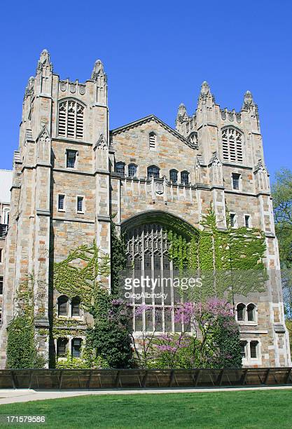 university of michigan law school, ann arbor, clear blue sky. - ann arbor stock pictures, royalty-free photos & images